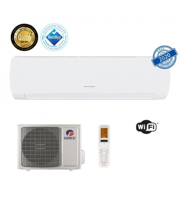 Aer conditionat Gree Muse 9000 BTU, A++, freon R32, Control WiFi, Filtru Catechin, I Feel, Afisaj Ceas