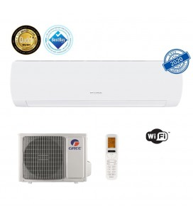 Aer conditionat Gree Muse 12000 BTU, A++, freon R32, Control WiFi, Filtru Catechin, I Feel, Afisaj Ceas